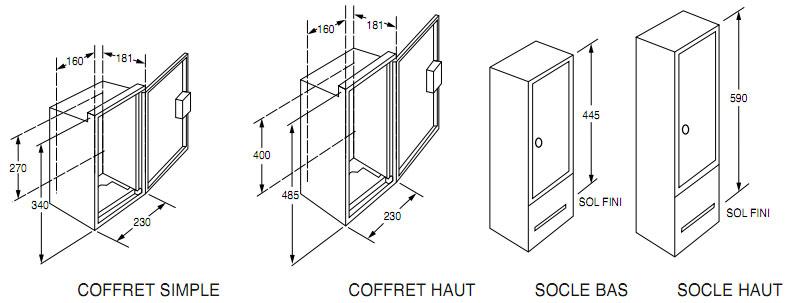 ref eris coffrets et branchement edf socles s22. Black Bedroom Furniture Sets. Home Design Ideas